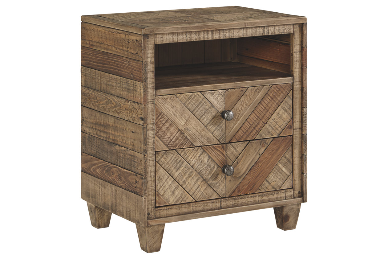 Grindleburg 2 Drawer Nightstand (B754)